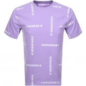 Product Image for Converse Grid Wordmark Logo T Shirt Lilac