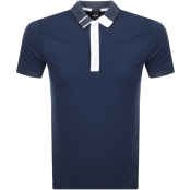 BOSS Athleisure Paule 2 Jersey Polo T Shirt Navy