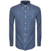Product Image for Ralph Lauren Slim Fit Denim Shirt Blue