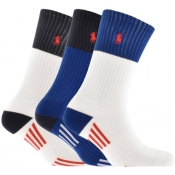Product Image for Ralph Lauren 3 Pack Classic Sports Socks White
