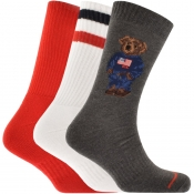 Product Image for Ralph Lauren 3 Pack Socks Grey