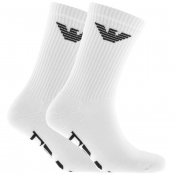 Product Image for Emporio Armani 2 Pack Sport Socks White