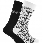 Product Image for Emporio Armani 2 Pack Socks White