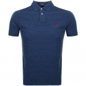 Ralph Lauren Custom Slim Fit Polo T Shirt Blue