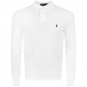 Ralph Lauren Long Sleeved Polo T Shirt White