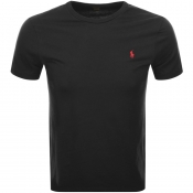 Product Image for Ralph Lauren Crew Neck Custom Fit T Shirt Black