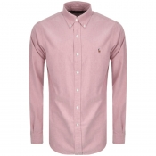 Ralph Lauren Slim Fit Oxford Shirt Pink