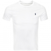 Product Image for Ralph Lauren Crew Neck Custom Fit T Shirt White