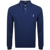 Ralph Lauren Long Sleeved Polo T Shirt Navy