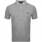 Ralph Lauren Custom Slim Fit Polo T Shirt Grey