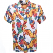 Product Image for Levis Short Sleeved Cubano Parrot Shirt White