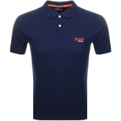 Superdry Lite City Polo T Shirt Navy