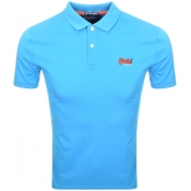 Superdry Lite City Polo T Shirt Blue