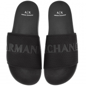 Product Image for Armani Exchange Logo Mesh Sliders Black