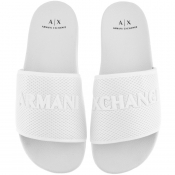 Product Image for Armani Exchange Logo Mesh Sliders White