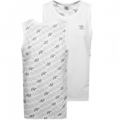 adidas Originals Monogram Vest T Shirt White