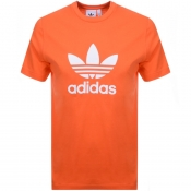 adidas Originals Trefoil T Shirt Orange