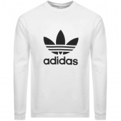 Product Image for adidas Originals Trefoil Logo Sweatshirt White