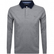 Product Image for Gant Long Sleeve Heavy Rugger Polo T Shirt Grey