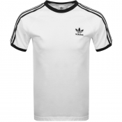 Adidas Originals California 3 Stripe T Shirt White