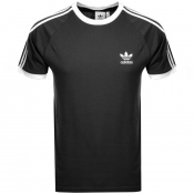 adidas Originals California 3 Stripe T Shirt Black