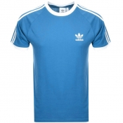 Product Image for Adidas Originals California 3 Stripe T Shirt Blue