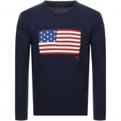 Ralph Lauren Crew Neck Knit Jumper Navy