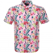 Ralph Lauren Short Sleeved Floral Shirt Pink