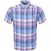 Product Image for Ralph Lauren Short Sleeved Check Shirt Blue