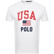 Product Image for Ralph Lauren Americana Crew Neck T Shirt White