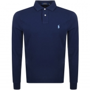 Product Image for Ralph Lauren Long Sleeved Polo T Shirt Navy