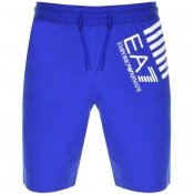 Product Image for EA7 Emporio Armani Logo Jersey Sweat Shorts Blue