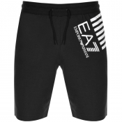Product Image for EA7 Emporio Armani Logo Jersey Sweat Shorts Black