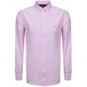 Tommy Hilfiger Long Sleeved Poplin Shirt Pink