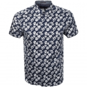 Ted Baker Short Sleeved Koalr Shirt Navy