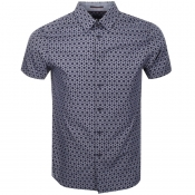 Product Image for Ted Baker Short Sleeved Enyone Shirt Navy