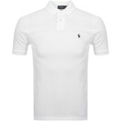 Product Image for Ralph Lauren Custom Slim Fit Polo T Shirt White