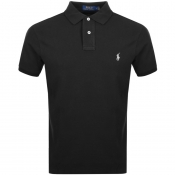 Product Image for Ralph Lauren Custom Slim Fit Polo T Shirt Black