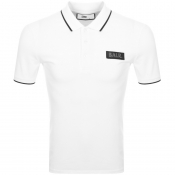BALR Badge Logo Polo T Shirt White
