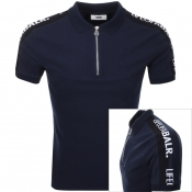 BALR Life Of A BALR Trimmed Polo T Shirt Navy