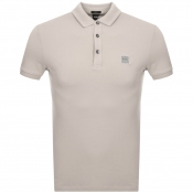 BOSS Casual Passenger Polo T Shirt Beige