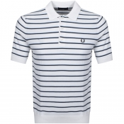 Product Image for Fred Perry Short Sleeved Knit Polo T Shirt White