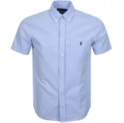 Product Image for Ralph Lauren Short Sleeved Stripe Shirt Blue