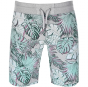Superdry Allover Print Washed Shorts Grey