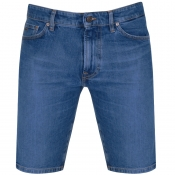BOSS Casual Maine Regular Denim Shorts Blue