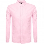 Product Image for Tommy Jeans Long Sleeved Oxford Shirt Pink