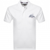 Tommy Jeans Logo Polo T Shirt White