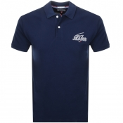 Product Image for Tommy Jeans Logo Polo T Shirt Navy