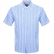 Product Image for Tommy Jeans Short Sleeved Stripe Shirt Blue