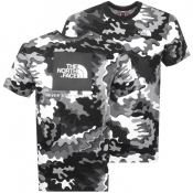 The North Face Camo Red Box T Shirt Black